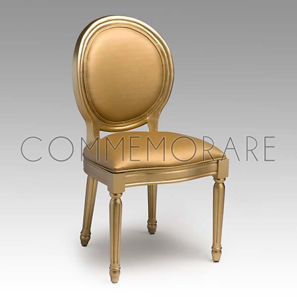 Cadeira Donatella Estofada Dourada