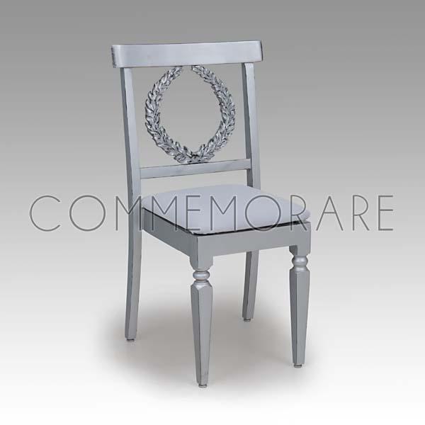 Cadeira Valentino Prateada