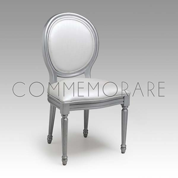 Cadeira Estofada Donatella Prata