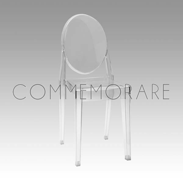 Cadeira Victoria Ghost Cristal