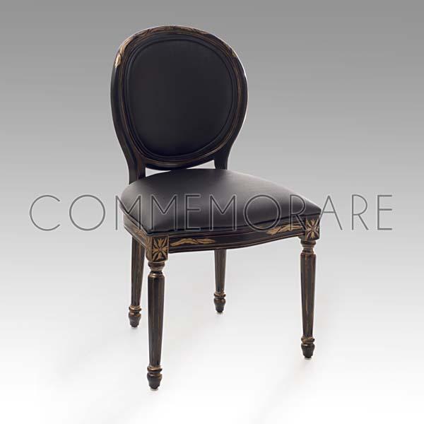 Cadeira Missoni Preta com Dourado