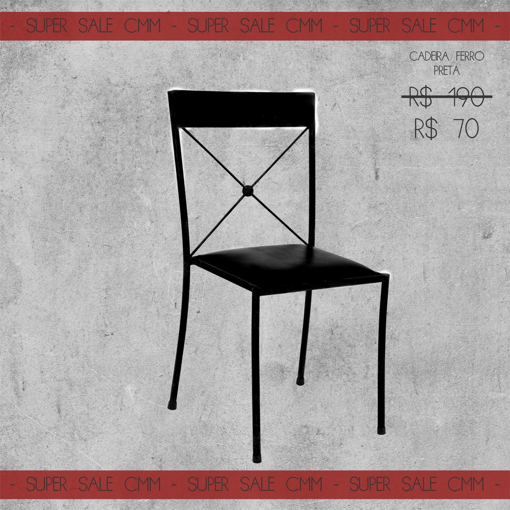 Super Sale Cadeira Ferro Preta
