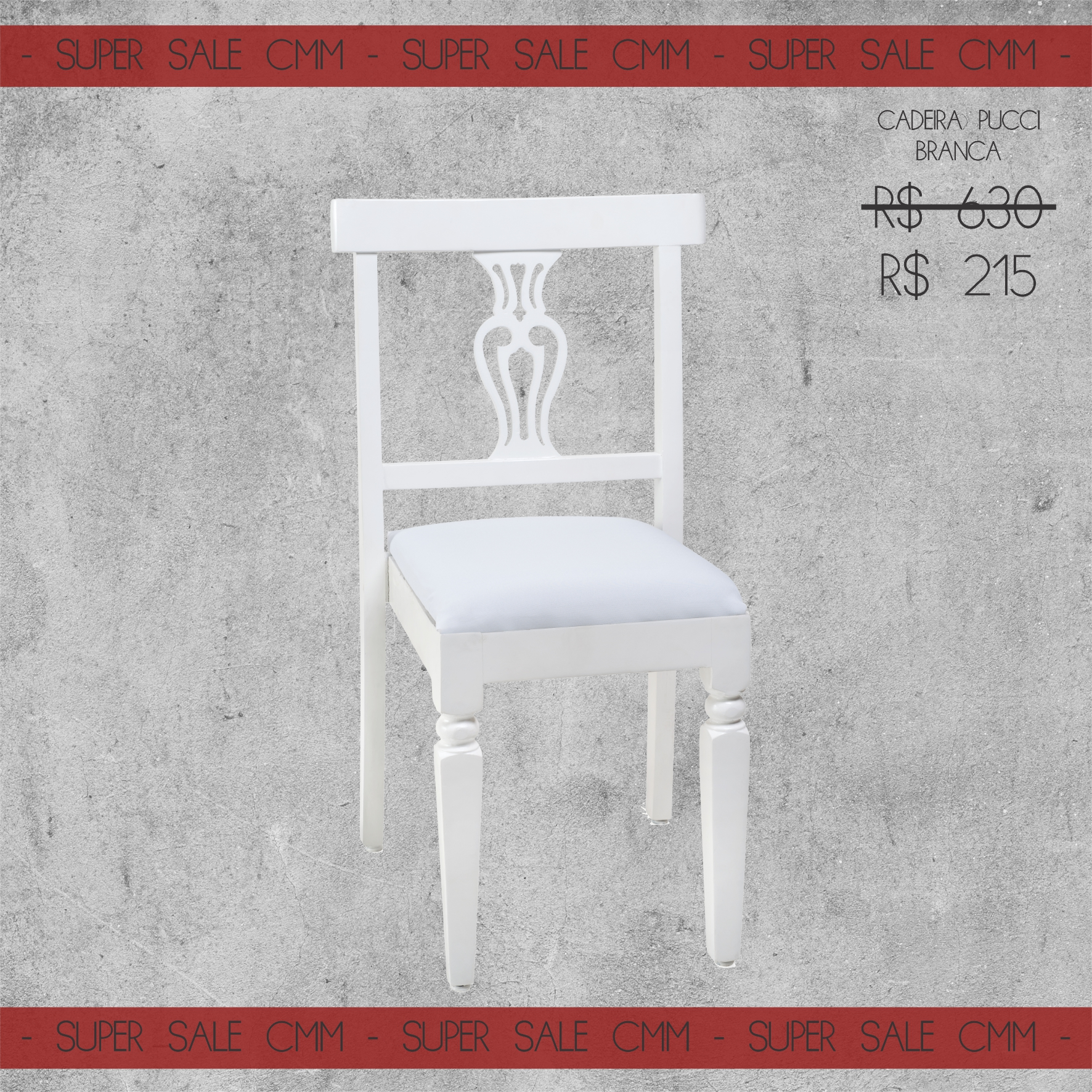 Super Sale Cadeira Pucci Branca